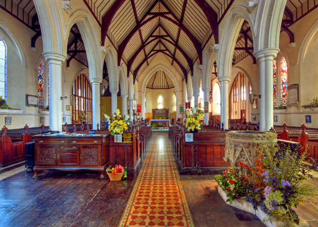View of the interior of Holy Trinity Church Ryde