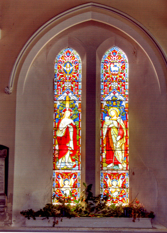 Stained glass window Holy Trinity Church Ryde