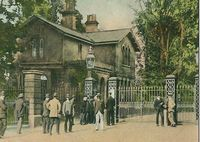 Entrance gate to Osborne House circa 1910