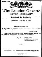 London Gazette 1901